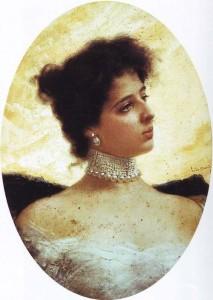 Una ritratto di France opera di Ettore De Maria Bergler, pittore che insegnò a Palemo.