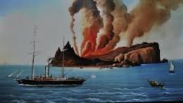 Un'immagine assolutamente fantastica della mitica apparizione dell'Isola Ferdinandea