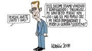 Una vignetta su Assad che parla chiaro: l'opinione corrente s'è aperta gli occhi...