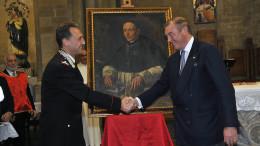 Carlo Di Borbone si congratula con il Comandante Galletta (Vedi Articolo). Foto di Angelo Modesto.