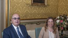 Fabio Carniol (Helvetia) e Ines Curella (Banca Sant'Angelo)