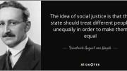 """Von Hayek riteneva che la piena libertà  portasse alla massima ricchezza sociale ma che si realizzasse solo nella totale """"non ingerenza"""" dello Stato nell'economia e nella vita dei cittadini.  Molti correttivi provengono dalla scuola liberale inglese e soprattutto dalla nutrita schiera dei liberisti italiani."""