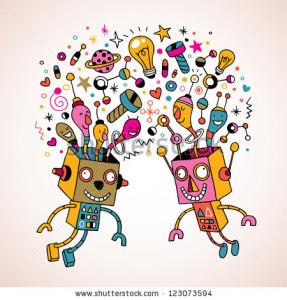 Ometti come robot si scambiano i gusti e le scelte, consumano, infine le identiche cose, volute da pochi altri.