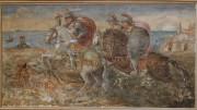 Uno degli storici dipinti di Castello Grifeo che attendono d'essere restaurati.