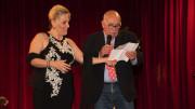 Felicia Bongiovanni sul palcoscenico dell'Orione presentata da Germano Scargiali