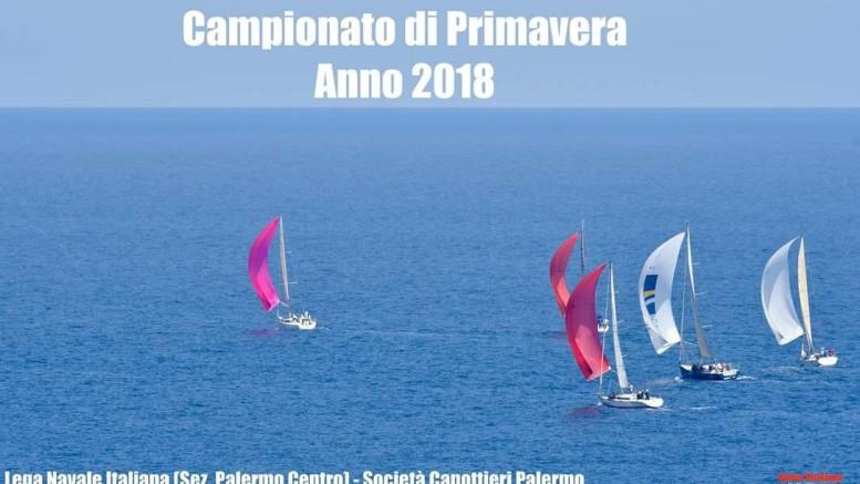 Una fase dell'arrivo della Palermo - Balestate, quinta e conclusiva prova del Campionato di Primavera 2918. Ringraziamo la Lega Navale PA Centro coorganizzatrice fra altri club, per la foto dall'alto.