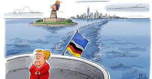 Anche l'America col culo di fuori. Non solo in prospettiva: è già fritta. Sarebbe, per l'Europa e il Mediterraneo, un momento d'Oro (come scriviamo sempre) ma sulla nave c'è solo Angela (leggi Rebecca)Merkel...
