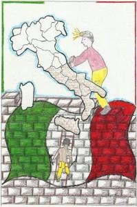 Gli anni della ricostruzione: con l'alacre lavoro, cantando ancora il Piave e Va' pensiero, sulle ali della rabbia della sconfitta, riportano il Paese al livello della sesta potenza mondiale e già nel 1960 l'Italia organizza a Roma la prima grane olimpiade della storia. Poi costruisce l'autostrada del Sole. Ma c'è chi dice che quell'Italia è ingiusta che è ancora memore del turpe fascismo. Oggi Roma si tira indietro: non è più all'altezza di un'Olinpiade, non costruisce il Ponte verso la Sicilia, trema di fronte a quattro scalzacani che protestano contro la Tav e il Brennero...