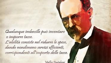 """Ripubblichiamo l'immagine, apparsa anche nel francobollo commemorativo, di Maffeo Pantaleoni, detto il Padre degli economisti italiani (fu maestro di V.Pareto e femminista ante litteram). Se l'Italia rileggesse la lezione dei suoi economisti liberali, da S. Ricossa, a F. Forte, a Luigi Einaudi, e ciò che resta della sapienza di G. Carli uscirebbe comunque da """"questo"""" Euro - a meno che l'UE non lo riformasse integralmente - e risolverebbe i problemi..."""