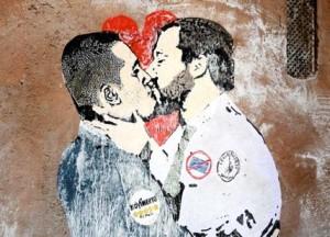 """Un significativo """"murale"""". Chi se lo aspettava? """"Con te sarò dolcissimo..."""""""