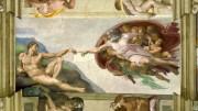Non si può fare  a meno di pensare all'opera pittorica e alla concezione teologico poetica  di Michelangelo.  Meglio pensare Dio così che dubitarne... Secondo Einstein non c'è maggior disgrazia per un uomo che perdere la fede.