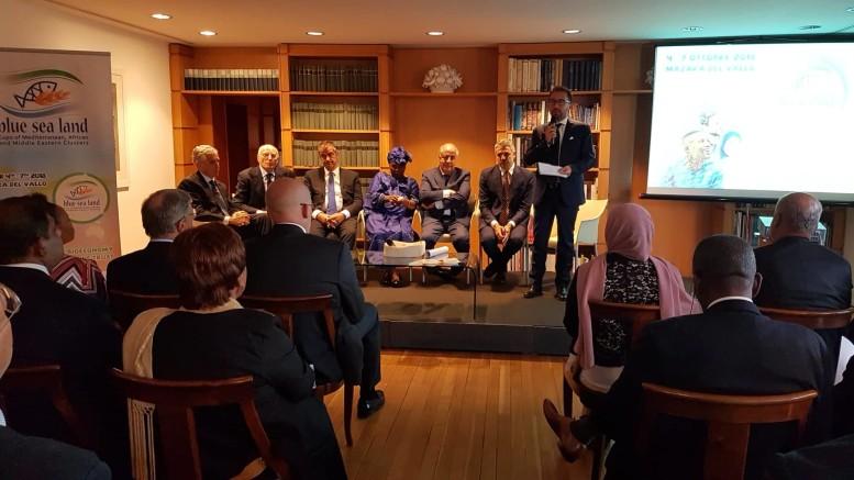 Presentazione al Circolo degli esteri: Il Ministro Bonafede ricorda Giovanni Tumbiolo_Presentazione di giugno del Blue Sea Land expo  2018