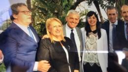 l'On.le Stefano Pellegrino (sorridente al centro) fra Gianfranco Micciché e la delegazione maltese. I buoni rapporti con Malta sono fondamentali per la Sicilia...