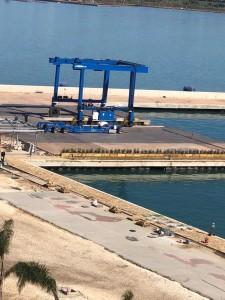 E' giunto per tempo durante i lavori di quest'inverno il Travel Lift, il più grande in Sicilia, il solo provvisto da 4 motori,.