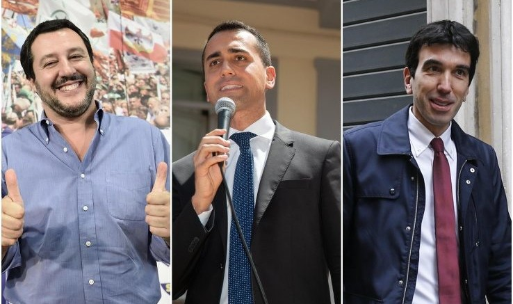 Il vincitore (Salvini ha trainato la destra e conferma la sua alleanza), il ridimensionato (Di Maio) e il soddisfatto Martina