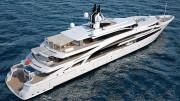 Vegayacht V853 del milionario russo Ibragimov ospite nelle acque di Marina Corta a Lipari.