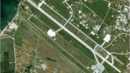 Una visione aerea dell'aeroporto di Birgi, civile e militare...