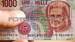 """""""La Mille lire"""", vecchia amica delle nostre tasche, è """"ridotta"""" ad una monetina da 50 centesimi che ci si vergogna a dare al poverello. Un pane a 60 lire oggi è 60 centesimi,un hamburger dal macellaio è 1 euro,prima era 1000 lire. C'è una evidenza in tutto ciò."""
