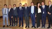 Salvo Pogliese nella foto ufficiale scattata quando ha presentato la nuova giunta etnea...