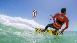Kitesurf in azione