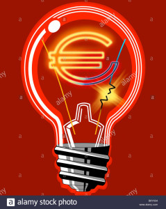 """Lampadine sempre nuove. Il progresso ci aiuta... Questa è una moderna """"ad incandescenza"""" e a risparmio, ma il maggior risparmio si ha con le lampade led."""