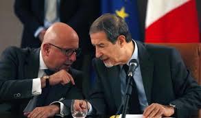"""Musumeci con Armao: presidente e vicepresidente sono al centro di questa operazione. L'efficienza dei porti, data la posizione della Sicilia in Mediterraneo può essere """"tutto"""" per lo sviluppo."""