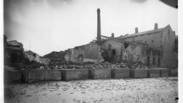 Stabilimento Zolfi Mormino, bombe americane dall'aria, 12 o 13 luglio 1943. Gli effetti distruttivi. Ph. Pasquale Mormino.