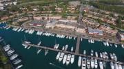 """Portorosa. foto da drone. Le barche in transito non sono mai mancate. Protagonista di molti """"guai"""" il porto di Furnari è oggetto di molta ammirazione."""