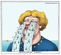 Merkel piange: quanto vale,del resto,il primato in un'Europa che non cresce,anzi in calo se non in ginocchio?