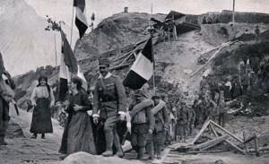 """La Grande Guerra si concluse con la Battaglia di Vittorio Veneto, che cancellò""""l'onta di Caporetto"""",grande disfatta che,però, gli italiani riuscirono ad arginare sul Piave."""