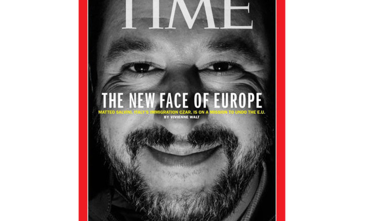 Salvini agli onori della copertina sul Time. Non è certo il primo italiano: più volte Mussolini, De Gasperi, Berlusconi e persino Monti...