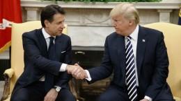 """Trump stringe la mano a tutti i capi di stato nessuno escluso e """"fa sul serio"""". Con l'Italia ci tiene a dimostrare di avere un rapporto privilegiato. Non piace - però - alla nostra Tv."""