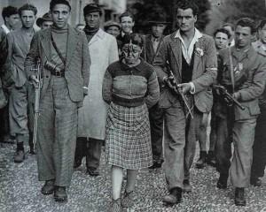 Una vera immagine di una ragazza 'catturata' dai titini: le hanno impresso sul volto la M (Mussolini).