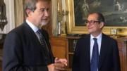 Nello Musumeci e Giovanni Tria : L'accordo è fatto.