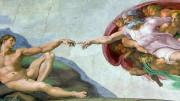 L'impareggiabile rappresentazione michelangiolesca allude all'alleanza fra Dio e l'uomo.