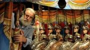 Cuticchio è riuscito a farsi messaggero di quest'arte palermitana: eccolo  portare i pupi in mostra al Quirinale...