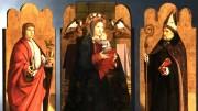Il trittico di Antonello da Messina proveniente dagli Uffizi. Il pittore quattrocentesco è è celebrato fra i maggiori d'ogni tempo.