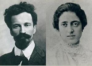 Cesare Battisti con la moglie Ernesta Bittanti Battisti.