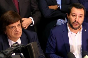 Tony Rizzotto in una recente folto accanto al suo premier Matteo Salvini.
