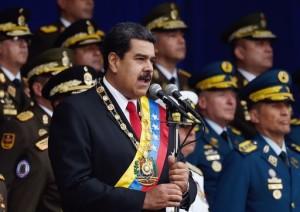 Maduro in una foto apparsa sul New York Tymes che lo ha sempre appoggiato. Trump gli è nemico.