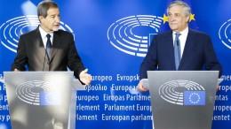 Musumeci e Tajani a Bruxelles (Foto fornitaci da Angelo Modesto)