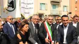 Di Maio inaugura la scuola materna di Fabriano, la prima ad essere stata pronta dopo il terremoto nella zona di Arquata.