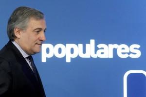 Antonio Tajani presidente della Assemblea UE a Bruxelles. Appartenente a Forza Italia, fa parte dei popolari europei.