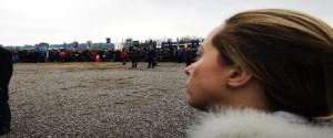 Giorgia Meloni a Basovizza: anche lei è stata chiara condannando di netto l'eccidio.