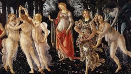 La Primavera di Sandro Botticelli (1445 -1510). Grandi uomini e grandi artisti hanno tenuto la donna nella massima considerazione.