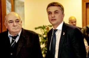 Il nostro direttore Gemano Scargiali e il viceministro Edoardo Rixi.