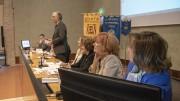 Un momento del convegno:parla Fabrizio Micari. Seconda da destra la Dr.ssa Maria Gabriella Vitrano. (Foto e riprese di Franco La Valva)