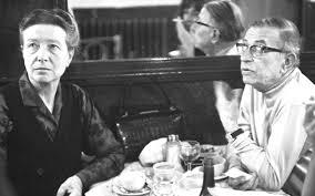 """Jean Paul Sartre e Simone de Beauvoir rappresentarono la """"coppiaaperta"""" del 1968, traendone, come tanti altri intellettuali pesonali."""
