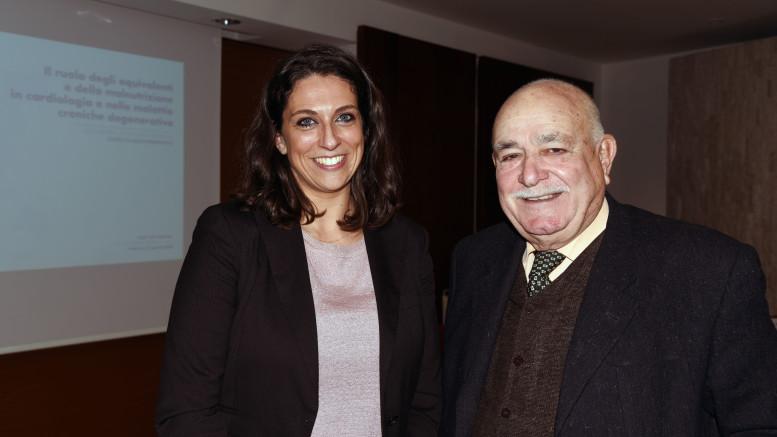 La dottoressa Ilaria Uomo, farmacologa di Napoli e il nostro direttore Germano Scargiali dopo l'intervista.
