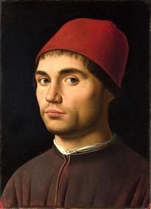 Antonello nel ritratto giovanile. Un altro lo ritrae in età più avanzata.